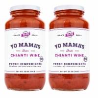 Yo Mama's Foods Gourmet Chianti Wine Pasta Sauce - (2) 25 oz Jars - No Sugar Added - 2 Jar/25 Ounce