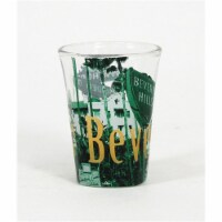 Americaware SGBHC01 Beverly Hills Duo Tone Etched Shot Glass - 1