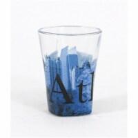 Americaware SGATL01 Atlanta Duo Tone Etched Shot Glass - 1