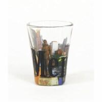 Americaware SGMEM01 Memphis Full Color  Etched  Shot Glass - 1
