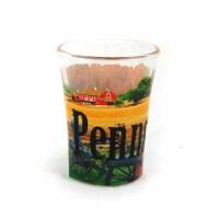 Americaware SGPEN01 Pennsylvania Full Color Etched  Shot Glass - 1