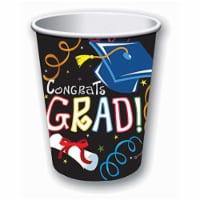 Forum Novelties 308811 9 oz Graduation Paper Cups - Pack of 8 - 1