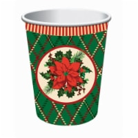 Forum Novelties 9 oz Christmas Plaid Cup, Pack of 8