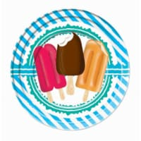 Forum Novelties 641739 9 in. Popsicle Party Lunch Plate - Pack of 8