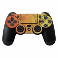 MightySkins SOPS4CO-Red Orange Polygon Skin Decal Wrap for DualShock PS4 Controller - Red Ora - 1