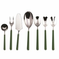 Mepra 10V62207 Fantasia Flatware Set, Verde - 7 Piece