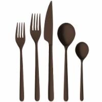 Mepra 104822020ION Linea Ice Oro Nero Cutlery Set - 20 Piece - 1