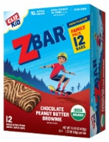 Clif Kid Zbar Chocolate Peanut Butter Brownie Energy Snack Bars