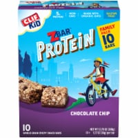 Clif ZBar Kid Protein Chocolate Chip Whole Grain Crispy Snack Bars