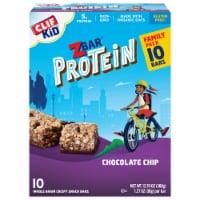 Clif ZBar Kid Protein Chocolate Chip Whole Grain Crispy Snack Bars - 10 ct / 1.27 oz