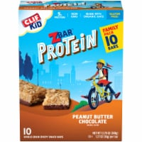 Clif Z Bar Kid Protein Peanut Butter Chocolate Whole Grain Crispy Snack Bars