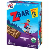 Clif Kid Z Bar Organic Chocolate Chip Baked Whole Grain Energy Snack Bars