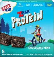 Clif Kid ZBar Protein Chocolate Mint Whole Grain Crispy Snack Bars 5 Count
