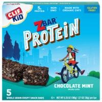 Clif Kid ZBar Protein Chocolate Mint Whole Grain Crispy Snack Bars