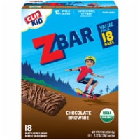 Clif Kid Zbar Organic Chocolate Brownie Baked Whole Grain Energy Snack Bars