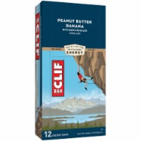 Clif Bar Peanut Butter Banana Dark Chocolate Energy Bars 12 Count