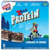 Clif Kid ZBar Protein Cookies n Creme Whole Grain Crispy Snack Bars - 5 ct / 1.27 oz