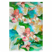Betsy Drake GT724 Peach Floral Guest Towel - 1