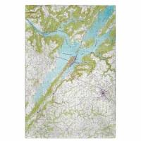 Betsy Drake GT611 Lake Guntersville, AL Nautical Map Guest Towel - 1