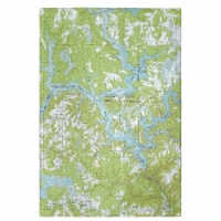Betsy Drake GT612 Lewis Smith Lake, AL Nautical Map Guest Towel - 1