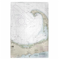 Betsy Drake GT13246 Cape Cod Bay, MA Nautical Map Guest Towel