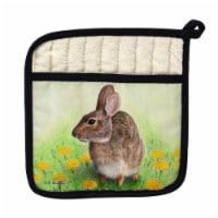 Betsy Drake Rabbit Left Pot Holder
