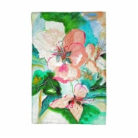 Betsy Drake KT724 Peach Floral Kitchen Towel - 1