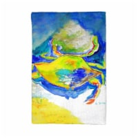 Betsy Drake KT1027 Blue & Yellow Crab Kitchen Towel