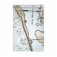 Betsy Drake KT11424 Anna Maria Island, FL Nautical Map Kitchen Towel - 1