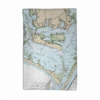 Betsy Drake KT11545 Beaufort Inlet & Part of Core Sound, NC Nautical Map Kitchen Towel - 1