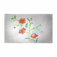 Betsy Drake DM1051G 30 x 50 in. Poppies & Daisies Door Mat - Large