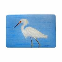 Betsy Drake DM1087 18 x 26 in. Stalking Snowy Egret Door Mat