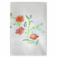 Betsy Drake GT1051 Poppies & Daisies Guest Towel