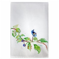 Betsy Drake GT1072 Bird & Blackberries Guest Towel - 1