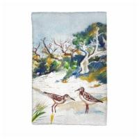 Betsy Drake KT487 Trees & Beach Kitchen Towel