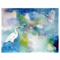 Betsy Drake PM1047 Three Egrets Place Mat - Set of 4 - 1