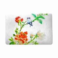 Betsy Drake DM1103 18 x 26 in. Blue Bird & Flowers Door Mat
