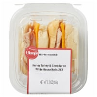 Ukrop's Honey Turkey & Cheddar Cheese on White House Rolls Sandwiches 2 Count