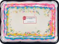 Ukrop's Homestyle Foods 1/4 Sheet Yellow Cake with Buttercream Unicorn Border