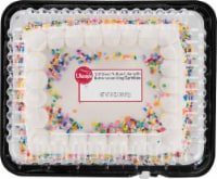Ukrop's Homestyle Foods 1/8 Sheet Yellow Cake with Buttercream Icing & Sprinkles