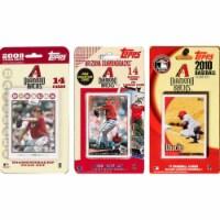 C & I Collectables DBACKS3TS MLB Arizona Diamondbacks 3 Different Licensed Trading Card Team