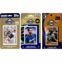 C & I Collectables BREWERS3TS MLB Milwaukee Brewers 3 Different Licensed Trading Card Team Se - 1