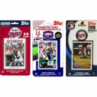 C & I Collectables TWINS3TS MLB Minnesota Twins 3 Different Licensed Trading Card Team Sets