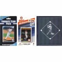 C & I Collectables 2011BRAVESTSC MLB  Atlanta Braves Licensed 2010 Topps Team Set and Favorit - 1