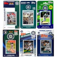 C & I Collectables MARINERS612TS MLB Seattle Mariners 6 Different Licensed Trading Card Team