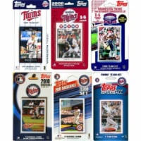 C & I Collectables TWINS612TS MLB Minnesota Twins 6 Different Licensed Trading Card Team Sets - 1