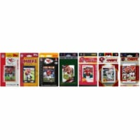 C & I Collectables CHIEFS712TS NFL Kansas City Chiefs 7 Different Licensed Trading Card Team