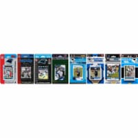 CandICollectables PANTHERS813TS NFL Carolina Panthers 8 Different Licensed Trading Card Team