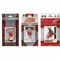 CandICollectables REDWINGS313TS NHL Detroit Red Wings 3 Different Licensed Trading Card Team