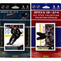 CandICollectables SHARKS13 NHL San Jose Sharks Licensed 2013-14 Score Team Set & All-Star Set